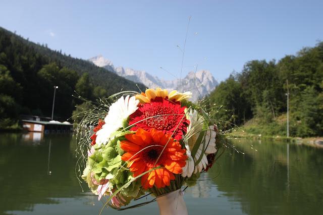 Gerbera-Brautstrauß