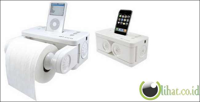 Wadah tisu toilet dan iPod Dock