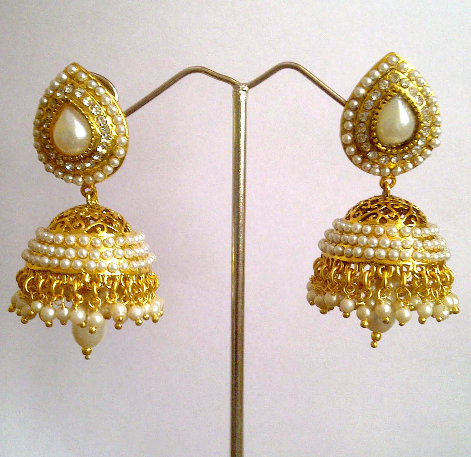 New Fashion Styles Latest Jhumka Earring Design 2013