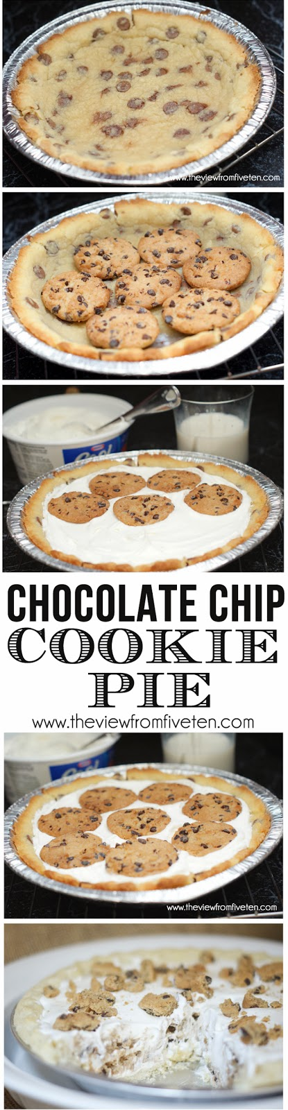 Chocolate Chip Cookie BOMB Pie #Recipe