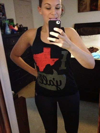 Texas girl workout tank