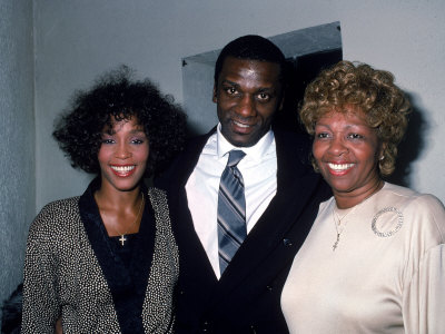 whitney houston with brother and mom
