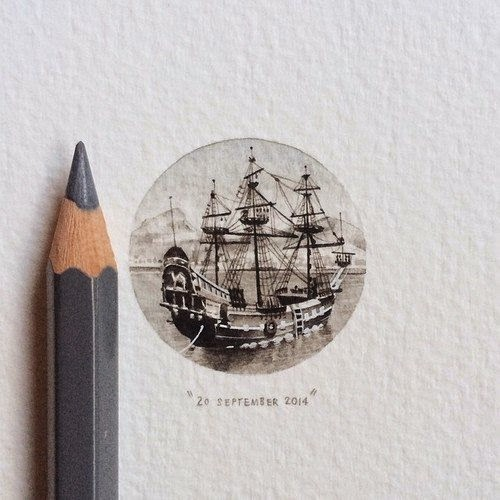 29-The-Dromedaris-Lorraine-Loots-Miniature-Paintings-Commemorating-Special-Occasions-www-designstack-co