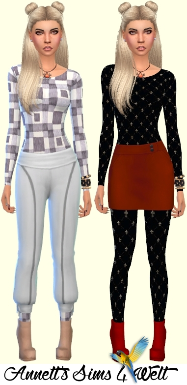 Annett`s Sims 4 Welt: Accessory Catsuits Black