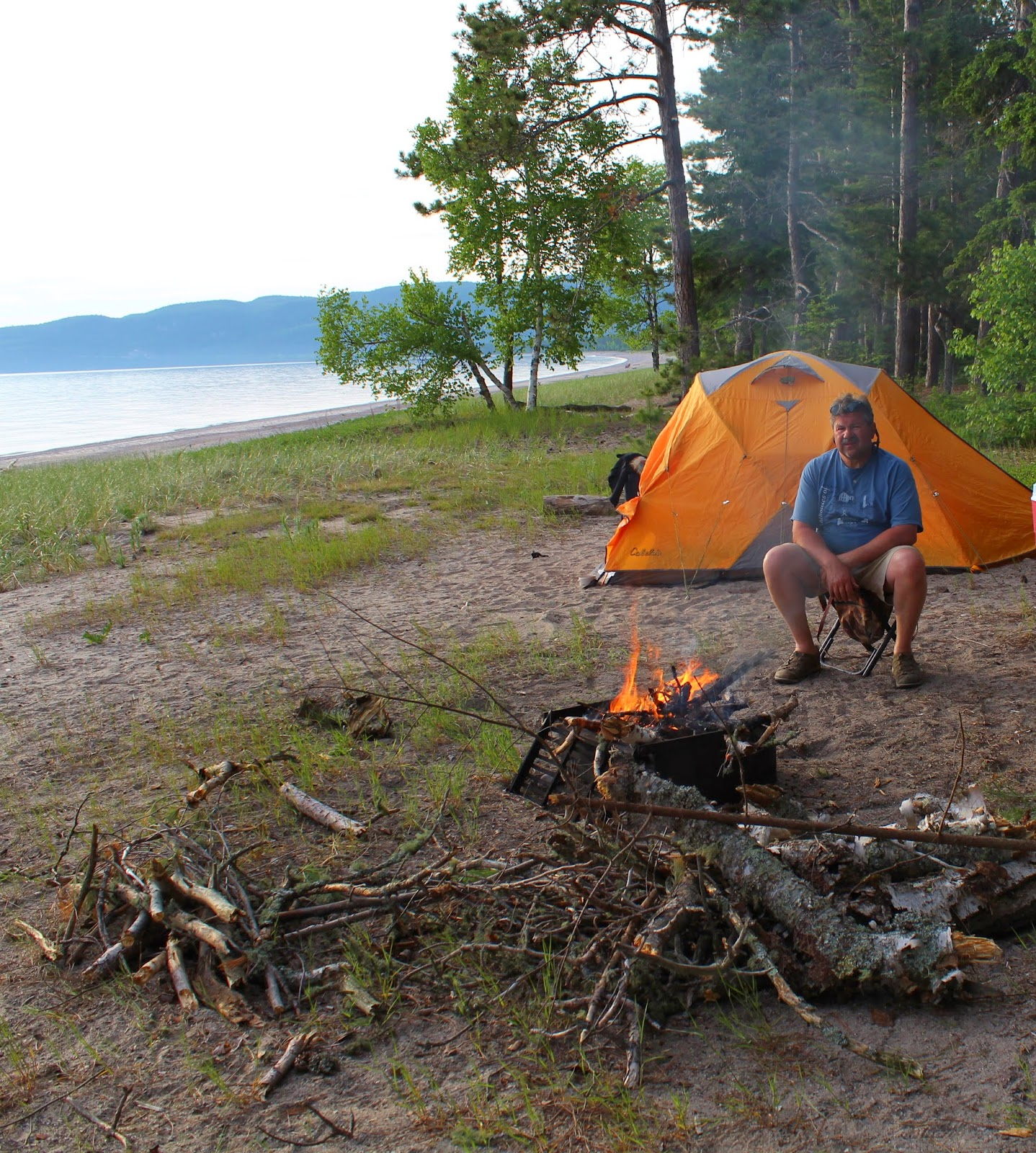 Tent c&ing on the beach Lake Superior Canada & Ohio Thoughts~: Lake Superior Circle Tour Canada