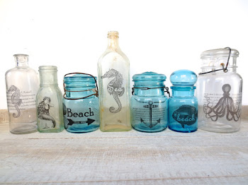Repurposed Mason Jars & Dump Bottles