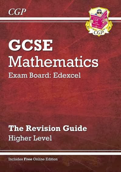 Mr collins mathematics blog new cgp revision guides i was very kindly sent out a copy of their higher edexcel other exam boards are available revision guide for mathematics gcse together with the fandeluxe Images