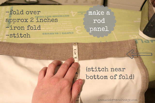 DIY Curtains With Blackout Lining {www.somuchbetterwithage.com} #DIY #sewing #curtains #blackout #lined #lining #blog