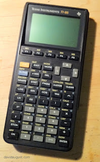 photo of my TI-85 calculator