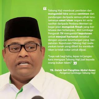 MELAYU JAHIL PELABURAN KAN DAH MELOPONG Lepas ini jangan kata mengapa Tabung Haji jual kepada orang bukan Islam kata Abdul Azeez