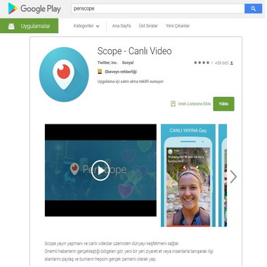 play google com - store - periscope