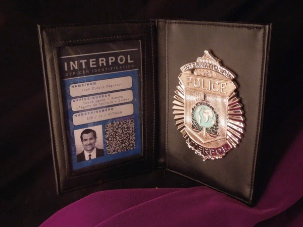 Ty Burrell Muppets Most Wanted Interpol ID badge prop
