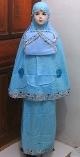Mukena Anak FLOWER-01 Biru