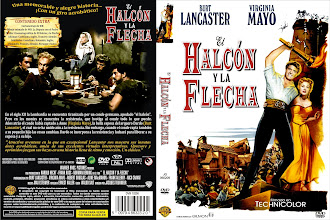 Carátula: El halcón y la flecha (1950) (The Flame and the Arrow)