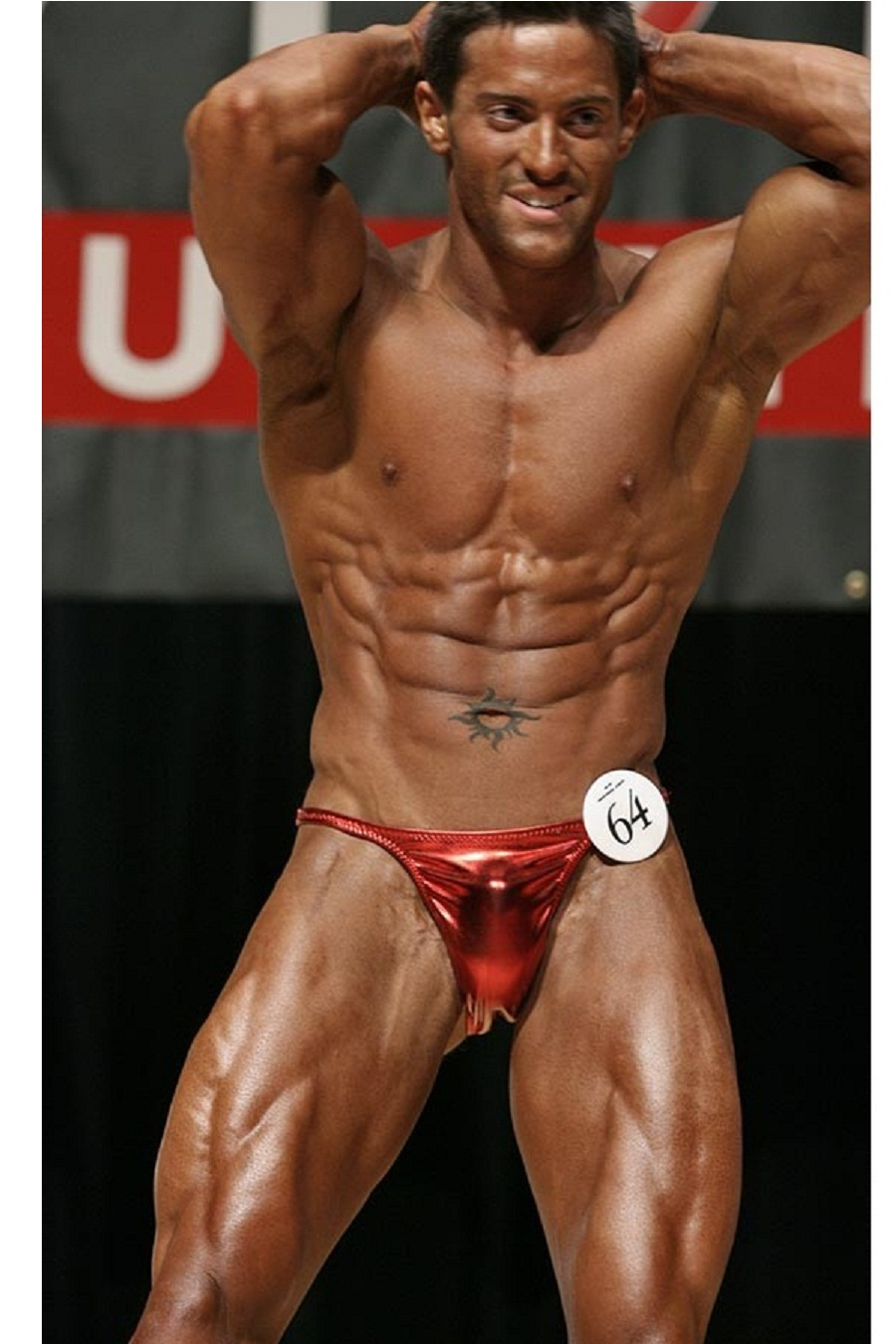 Body Builder Red Pants