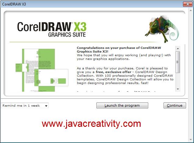 Maka aplikasi CorelDraw akan ditampilkan dan selamat mendesain Silakan Down