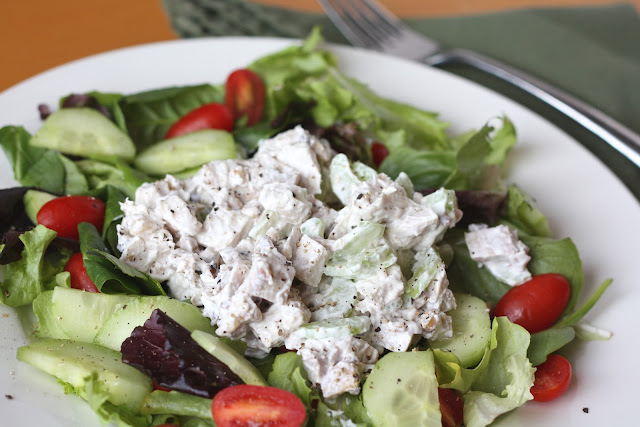 Simple Turkey Salad recipe by Barefeet In The Kitchen