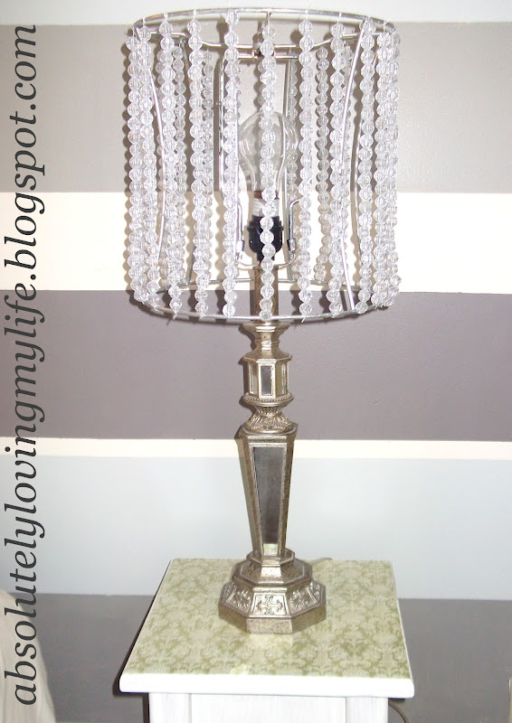 Loving life diy beaded lamp shades - Diy lamp shade ...