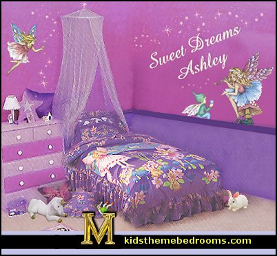 Decorating theme bedrooms maries manor fairies for Girls murals