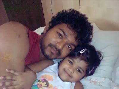vijay with his daughter divya saasha woodstimes     leads to