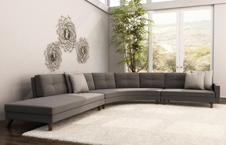 12 salas en color gris salas con estilo for Sofas grises decoracion