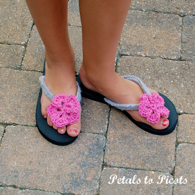 Crocheted Flip Flops: Part 2 – Little Sister Version