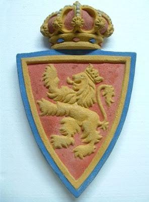 Escudo del Real Zaragoza pintado a mano