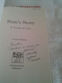 Picture of inside of Stan's Story showing inscribe