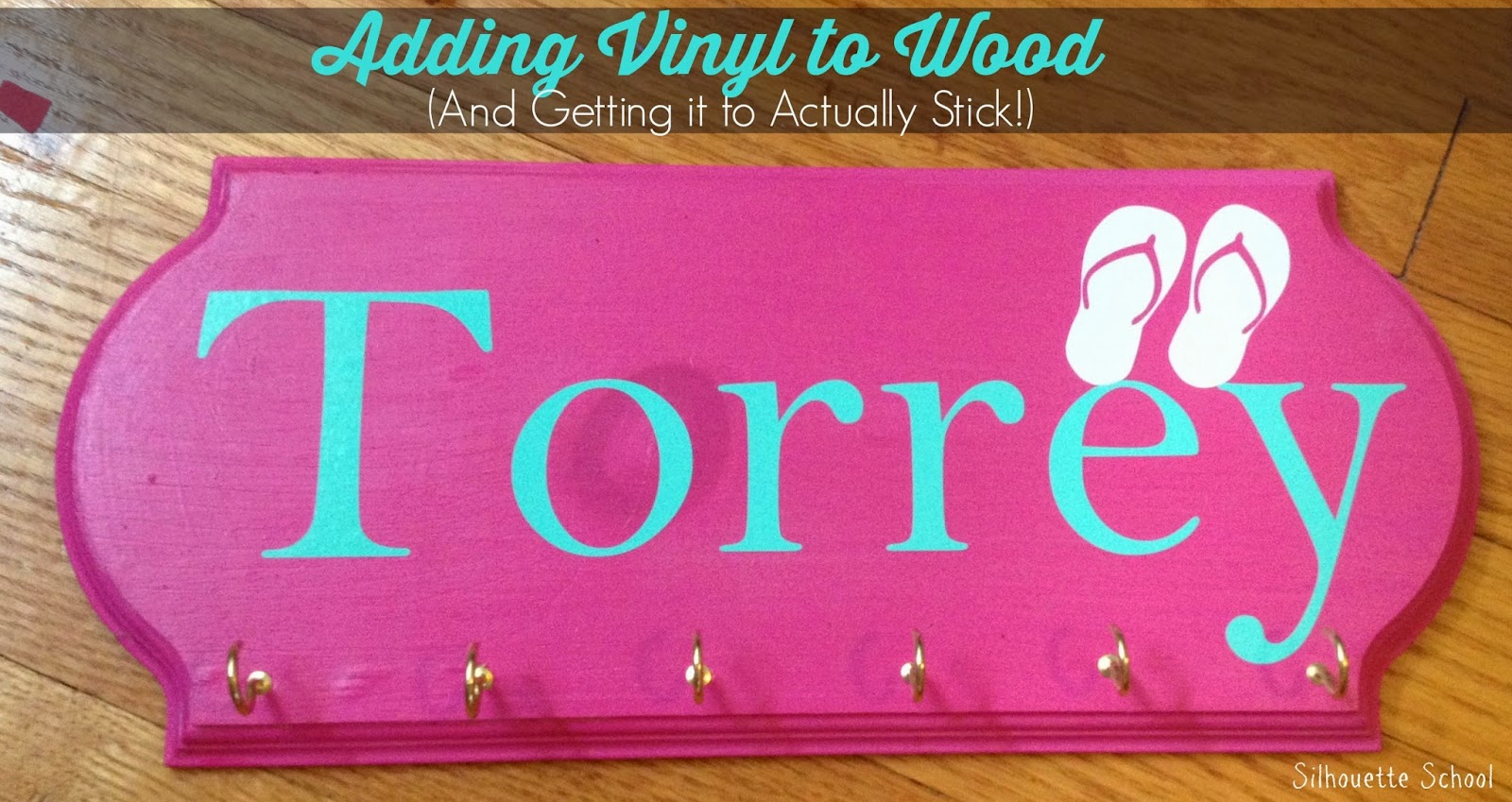 How To Put Vinyl On Painted Wood Signs So It Actually Sticks - How to make vinyl decals stick to wood