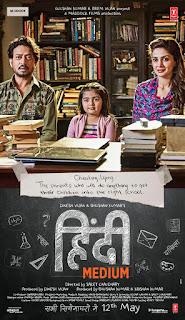 Hindi Medium 2017 Hindi Movie 720p hevc Bluray x265 [600MB]