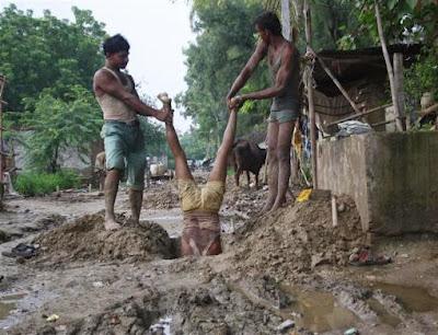 Escavação com criança