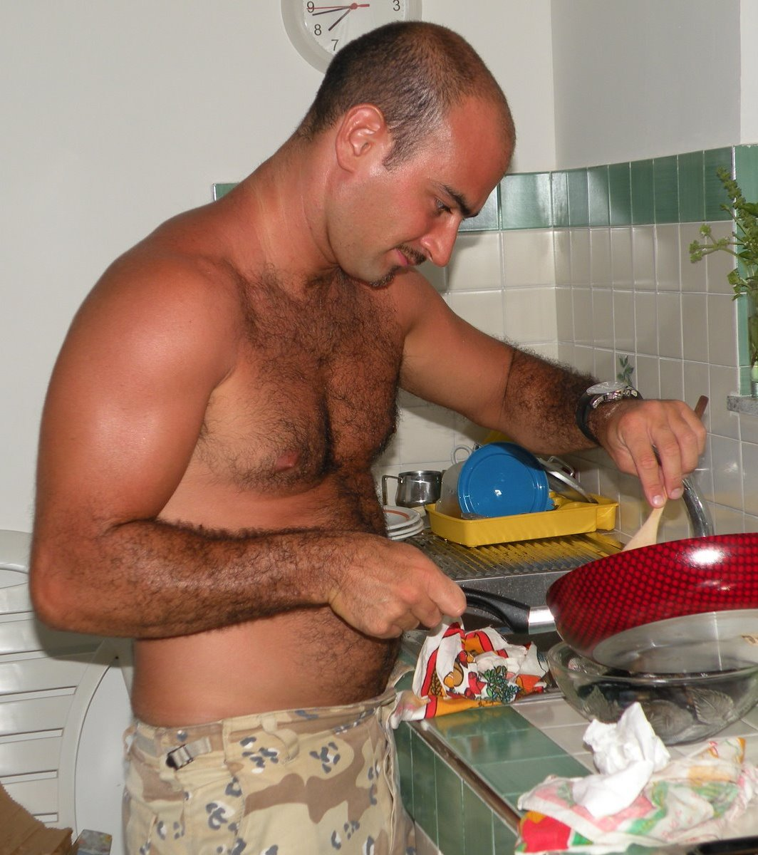 Furry Men Cooking Served Hot