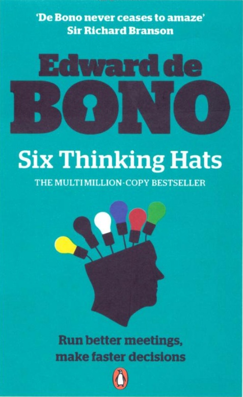 an analysis of the book six thinking hats by edward de bono Six thinking hats is a very compelling book, broken down into perfect little bite sized pieces for contemplation the overall concept that de bono lays down, about how to separate out the pieces of your thought process and put effort into using different aspects or varying up the order, is a very strong one, indeed, and matches the way i think.