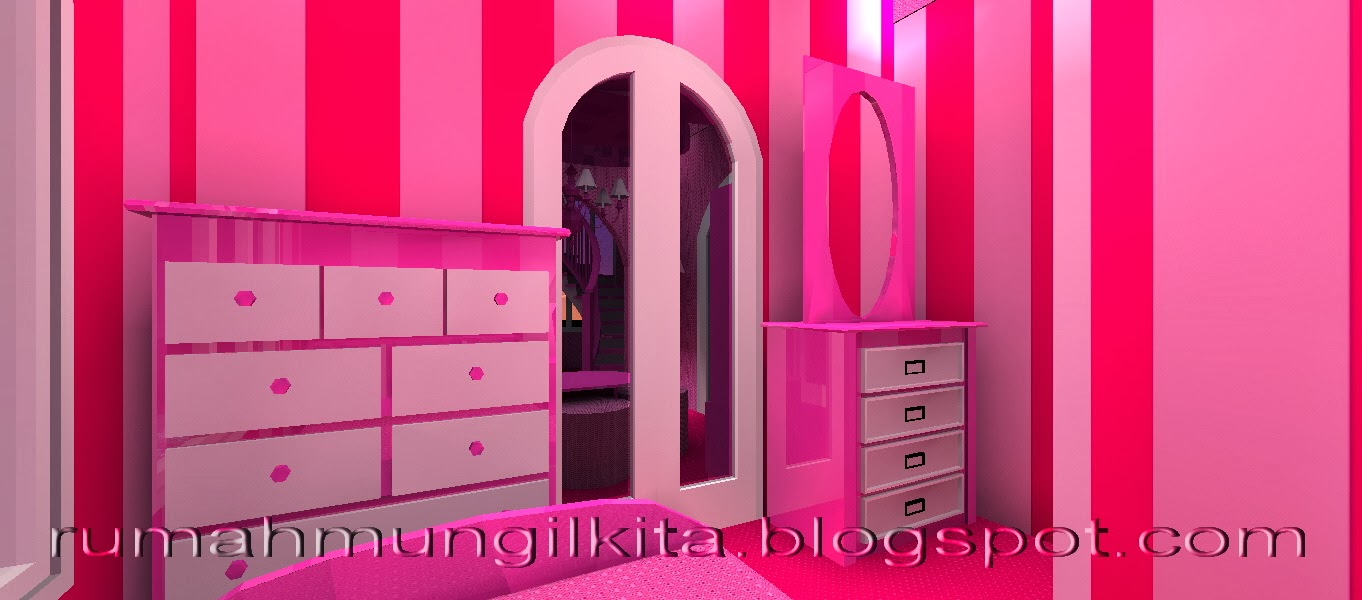real barbie dream house castle, pink bedroom