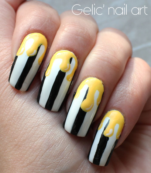 Gelic Nail Art 2015 31dc2015 Day 12 Wide Bw Stripes With