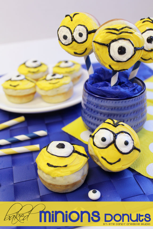 minions donuts, minions party, minions party food, mini donut reipe