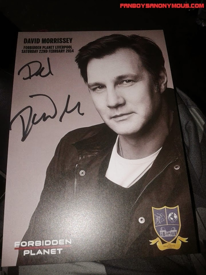 Forbidden Planet comic store backed charity photo of David Morrissey AMC's The Walking Dead's governor
