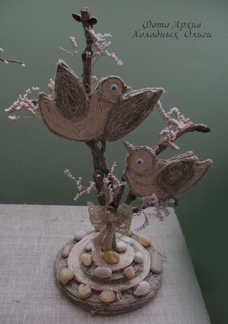 Птичка из шпагата