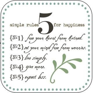Simple 5 Rules For Happiness