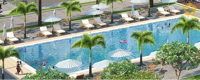 Bể bơi ngoài trời ở Ecolife Capitol