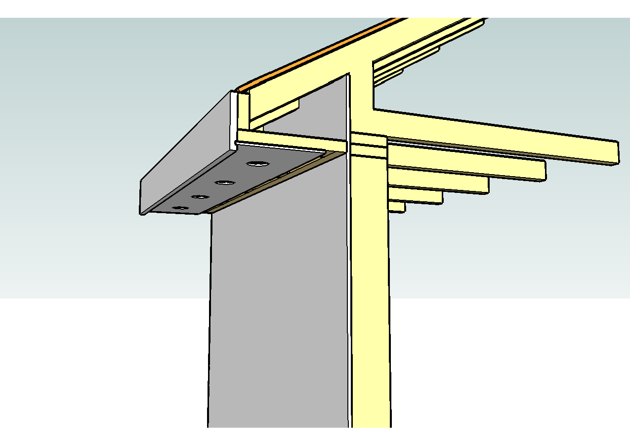 Constructing eaves sequencing for Roof sheathing thickness
