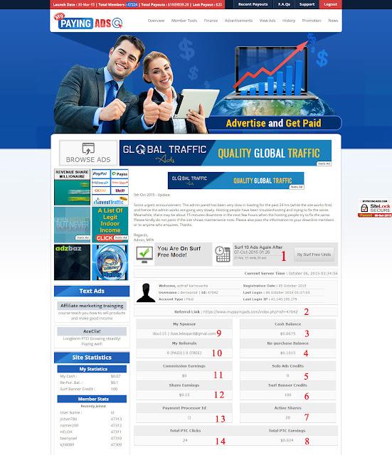 شرح موقع My Paying ads + إستراجية الربح السريع من MPA