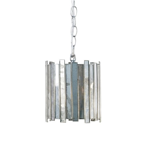 Zinc Door Worlds Away Faceted Small Pendant