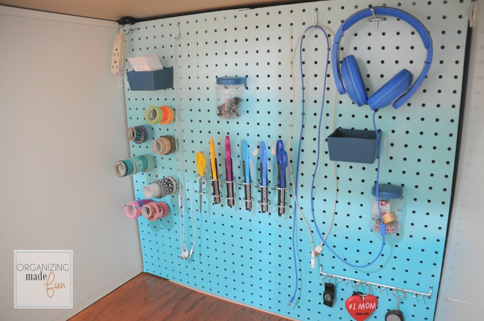 How To Hide Messy Cords With Pegboard | Organizing Made Fun: How To Hide  Messy Cords With Pegboard