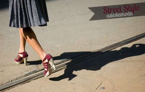 burgundy  street style + collage