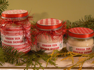 Small, Medium and Large Green Tea Sugar Scrubs