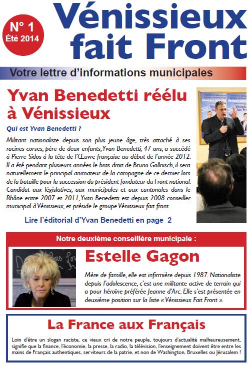 LA LETTRE VFF - n° 1 - été 2014