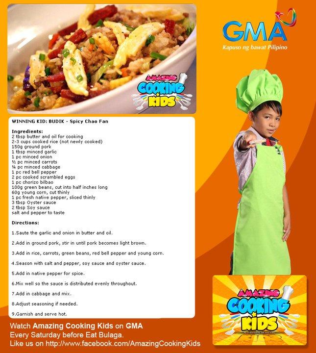 Spicy Chao Fan- Budik Recipe Amazing Cooking Kids