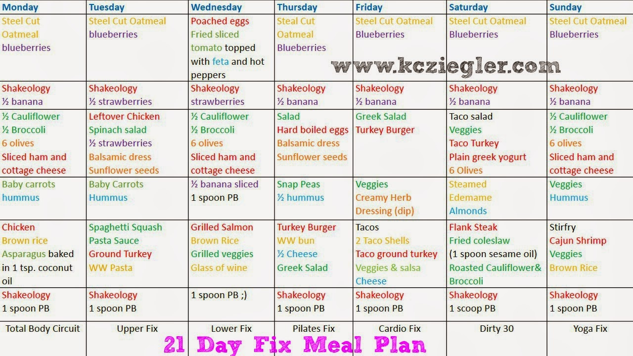 21 day meal plan weight loss