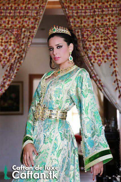 Caftan marocain vert de mariée 2014